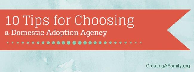 Ten Tips for Choosing Domestic Adoption Agency