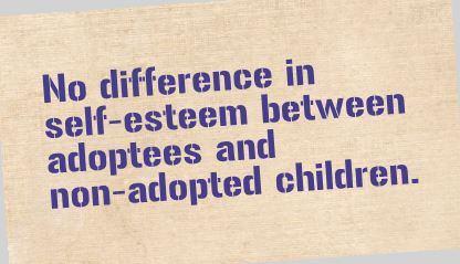 Adoptees Do Not Lack Self-Esteem