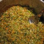 veggies sautéing in the pot